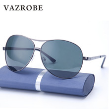 Vazrobe (162mm) Oversized Polarized Sunglasses Men Aviation Sun Glasses for Man Wide Head Driving Fishing Anti Glare UV400 brand