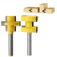 2Pcs 1 4 Shank Tongue Groove Router Cutter Tenon Line Bit Woodworking Tool Q01 Dropship