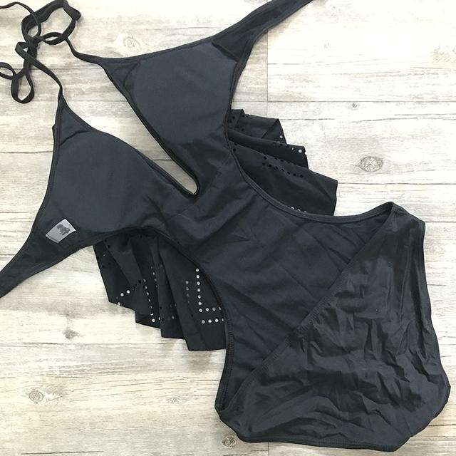 Sexy Plunging Neck Flouncing High Cut Trikini Push Up Monokini Bathing Swim Suit For Women Thong Swimwear One Piece Swimsuit
