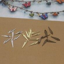 BASEHOME 100 шт./лот 3x16 мм Ювелирные изделия Подвески стрелка копье подвеска металлическая подвеска с кисточкой для ручной работы ожерелье сделай сам