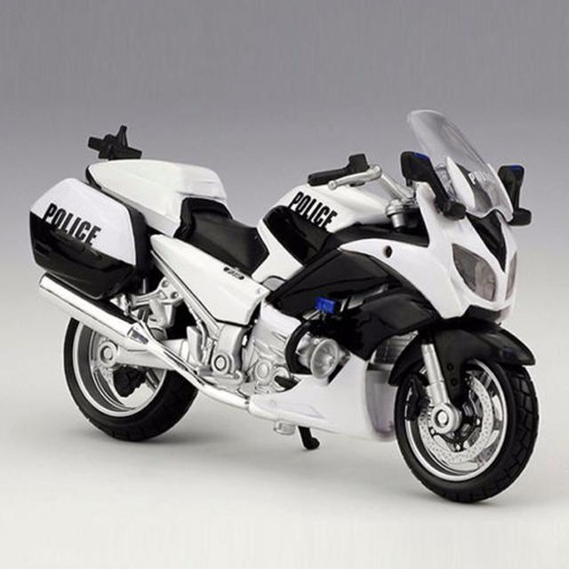 Colecciones de hobby modelo juguetes modelo de motocicleta de la policía 1/18 1300a yamaha fjr diecast para niños juguetes regalos