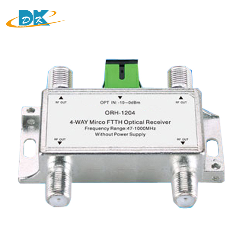 10pcs 4 way passive ORH 1204 mini CATV FTTH ORH 1204 Optical fiber Receiver converter 47 1000MHz CATV Optical Receiver converter in Fiber Optic Equipments from Cellphones Telecommunications