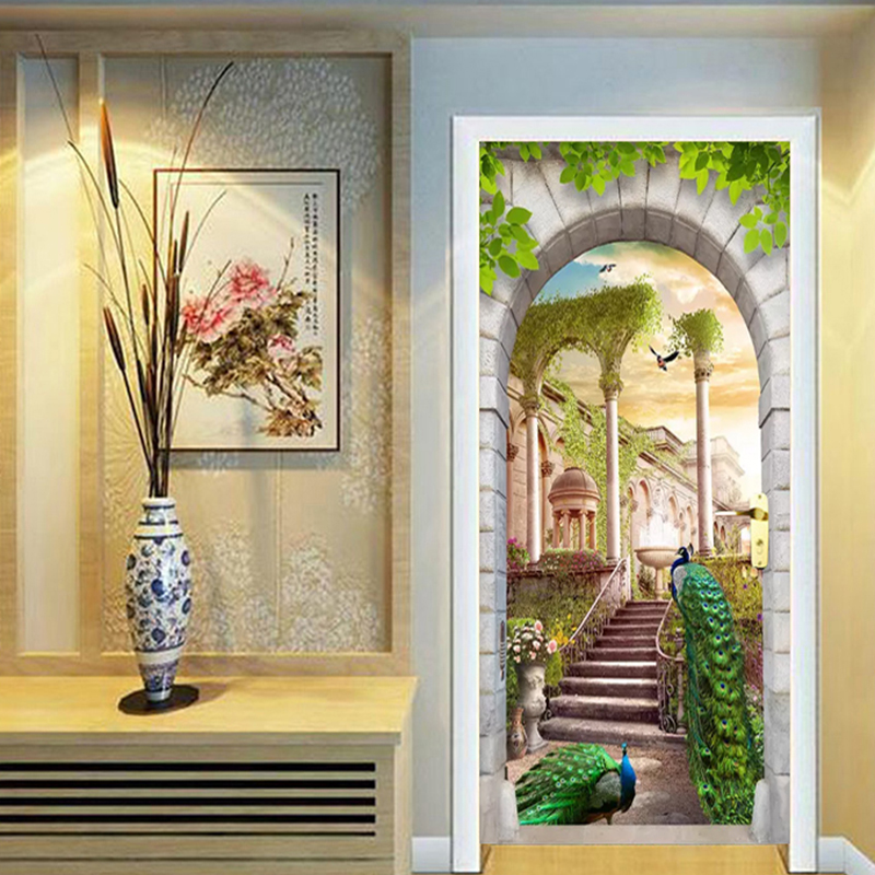 Photo Wallpaper Modern Peacock Forest Landscape Murals Living Room Study Elder's Bedroom Door Sticker PVC Wall Papers Home Decor
