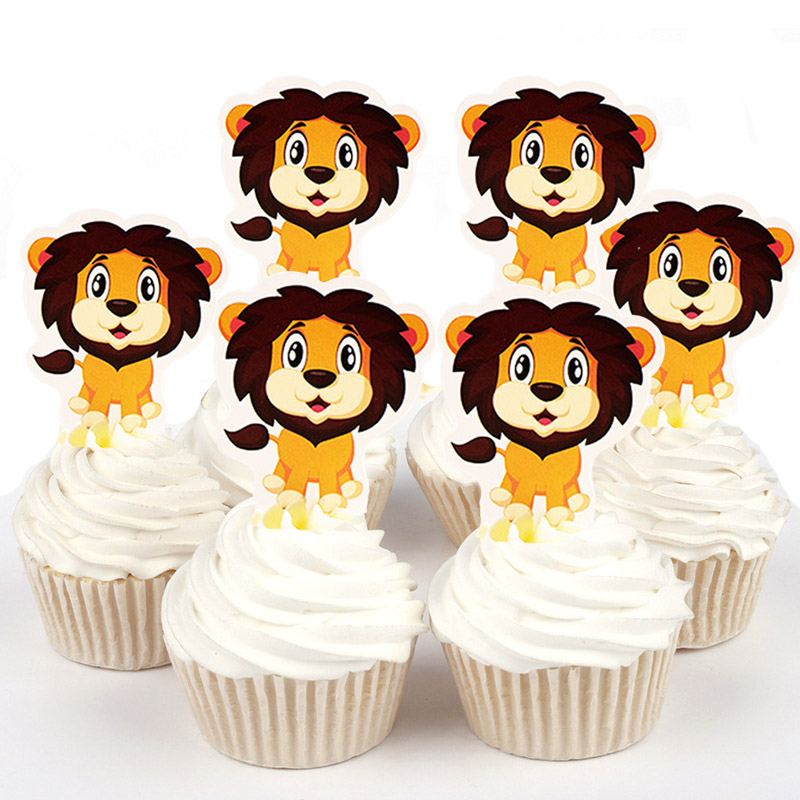 Super 50Pcs Cute Lion King Purple Horse Girls Panda Tigers Paper Cupcake Funny Birthday Cards Online Barepcheapnameinfo