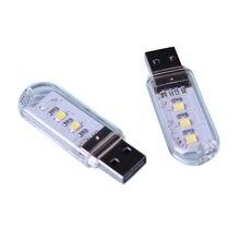 New 3leds 8leds 5730 SMD Book Lights Mini Protable USB Night Light For PC Laptops Computer