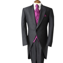 Custom Made Men Wedding Tailcoat Groom Tuxedo Fashion Best Man Business Man Suit