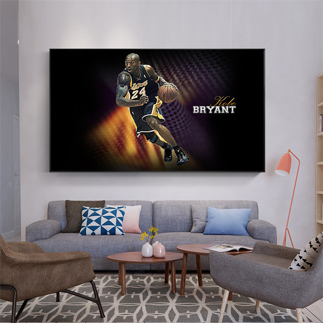 Sport Canvas Picture For Living Room Kobe Bryant Basketball Player Poster  And Prints Teens Children Room