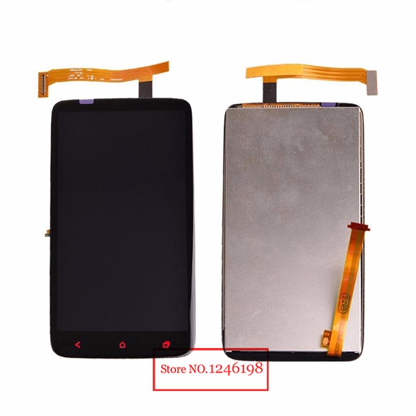 Prix pour Nouveau Testé Travail Plein LCD Affichage à L'écran Tactile Digitizer Assemblée Pour HTC One X Plus + S728e pièces De Rechange avec LOGO