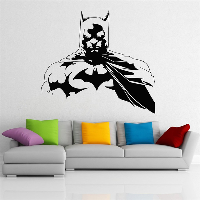 Batman Wall Decal Dark Knight Superhero Art Design Removable Waterproof  Removable Wall Stickers Home Decoration( Part 89