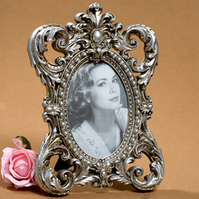 European style classical palace frame resin crown picture silver carved gift