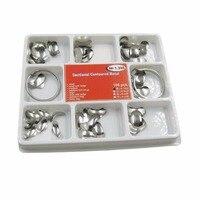 100Pcs Full Kit Dental Matrix Sectional Contoured Metal Matrices No 1 398 2 Rings