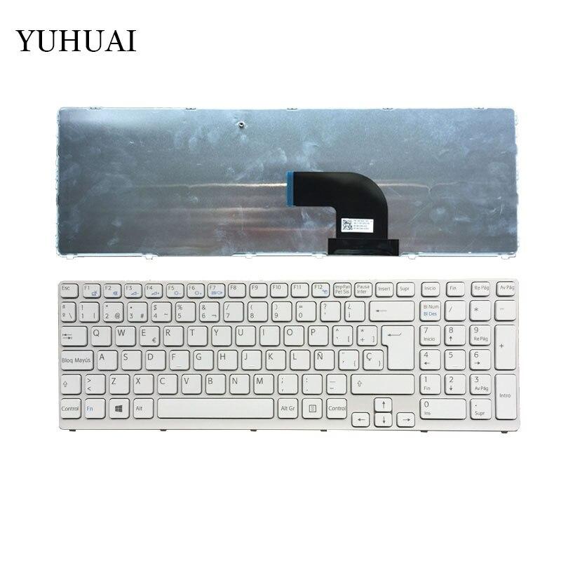 Spain Keyboard for Sony Vaio SVE17 SVE1711 SVE1712 SVE1713 SVE1712L1E SVE1713G1EW SVE1711C5E SVE171c11v SP Laptop keyboard White for sony vpceh35yc b vpceh35yc p vpceh35yc w laptop keyboard