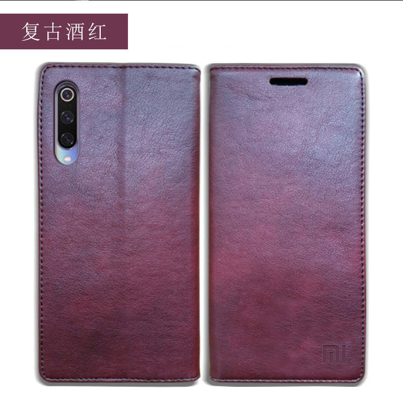 for Xiaomi Mi 9 Case Luxury Genuine Leather Flip Case for Xiaomi Mi 9 Magnetic Book Wallet Cover for Xaiomi mi9 Phone Coque Case01