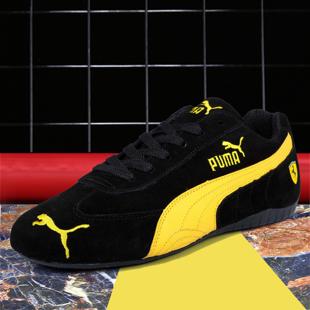 7290bc8301 US $40.79 15% OFF|2019 New Arrival PUMA Drift Cat 5 Ultra Sneaker Men's  Racing Shoes Leather Light Weight Low top Sport Badminton Shoes 36 45-in ...