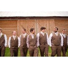 Men's Wedding Groom Wear vestido de festa Vest Brown Mens suits terno masculino 2017 Tuxedo Vests Camo New Custom Made Men suit
