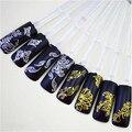 12 s лист/комплект Золотой и серебряный Металлический стиль 3D Дизайн совет Nail Art Nail Наклейки Для Ногтей Наклейка Маникюр Цвета Смешивания