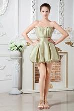 2016 neue design Sleeveless Backless Zipper Drapierte Mini Satin A-linie Sexy Fashion Cocktailkleid