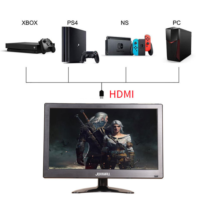 """12"""" LCD Portable HDMI Monitor pc ips for Macbook Pro VGA Interface 1920x1080 2"""