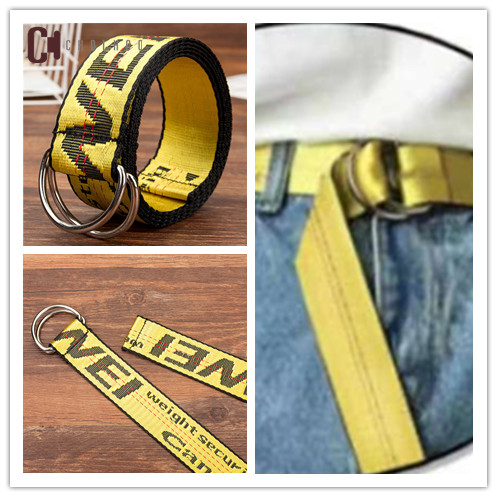 2018 Industrial   Belt   Yellow Black Red Street Style   Belt   2 Meter Auto Buckle Letters Harajuku Hip pop Accessories Waist   Belt   248