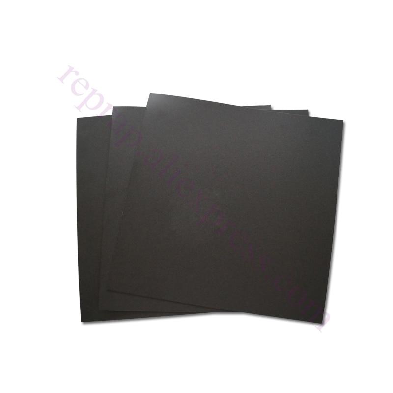 4 unids 214x214mm negro Mate lecho Caliente Pegatina Construir Hoja placa de con