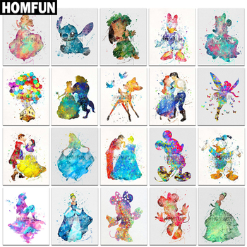 HOMFUN Full Square/Round Drill 5D DIY Diamond Painting Cartoon Painted 3D Embroidery Cross Stitch Home Decor A01851