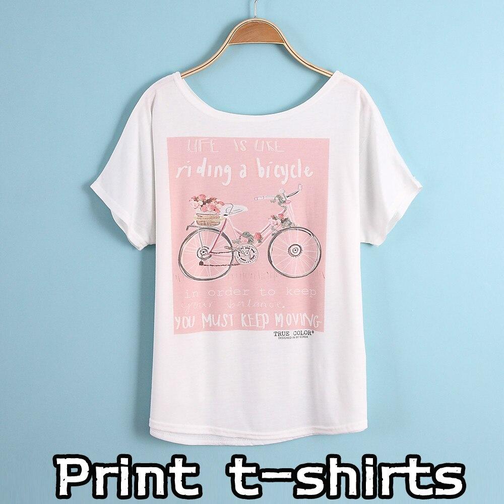 New Printing T Shirts Short Sleeves Women 39 S T Shirt Print