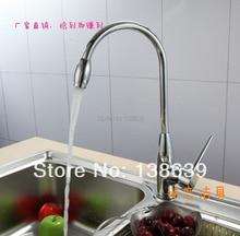 Бесплатная доставка Кухня 360 градусов вращая медь кухонный кран горячей и холодной воды овощи раковина бассейна квадратного смеситель
