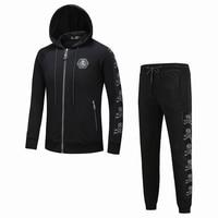 Новый Для мужчин s дизайнерский спортивный костюм осень зима дизайн пользовательского спортивные костюмы Для мужчин спортивные костюмы Че