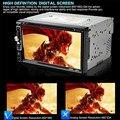 800x480 7 дюймов HD С Сенсорным Экраном 2-дин В Тире FM радио Приемник Bluetooth DVD CD-Плеер + 18 мм E306 Цвет Камера Заднего вида