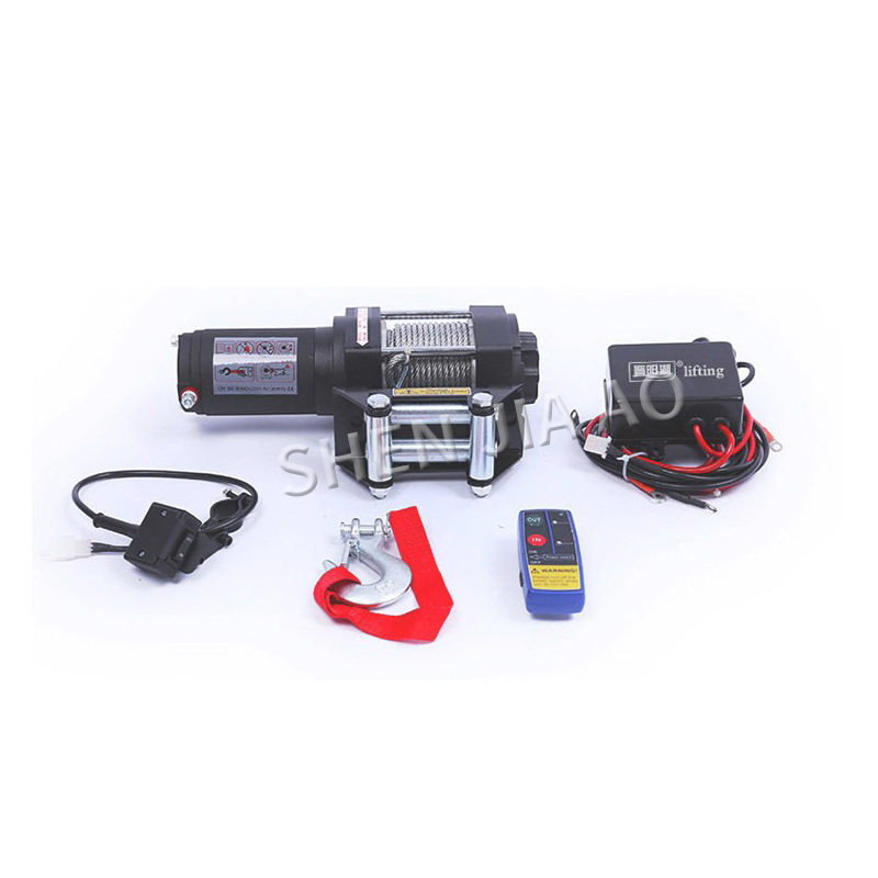 P2000-1 Self-rescue Electric Winch 2000 Lbs 12 Volt Electric Winch Off-road Vehicle Electric Winch Hoist Factory Direct Sales