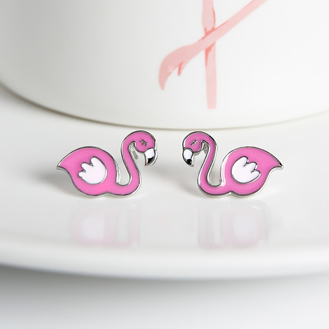 Flamingo Shaped Earrings