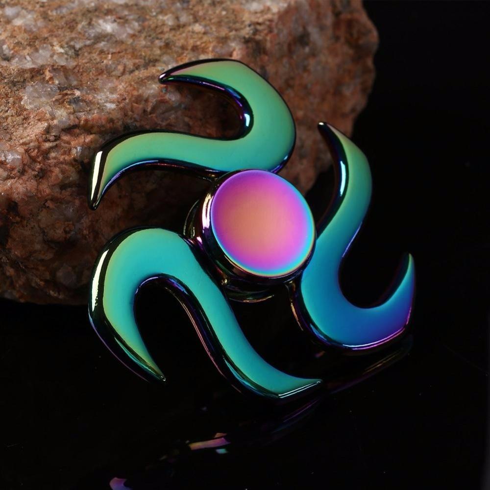 2017 Beyblade Rainbow Fidget Spinner Metal Spinner Hand Spinner Autism Top Finger Spinning Anti-stress Fidget Toys Widget
