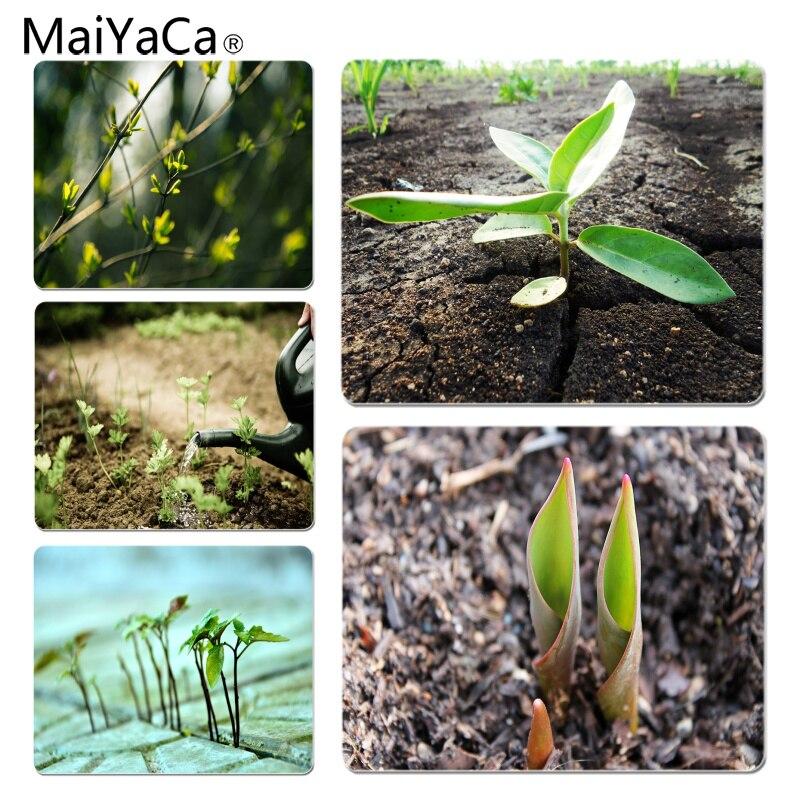 MaiYaCa Slender growing saplings Customized laptop Gaming mouse pad Size for 18X22CM Speed Version Gaming Mousepads