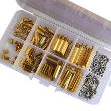 M2.5 Male Female Hex Brass Standoff Hexagonal Spacer Stainless Steel Screw Nut Assortmen Kit 160Pcs for 3d printer diy parts