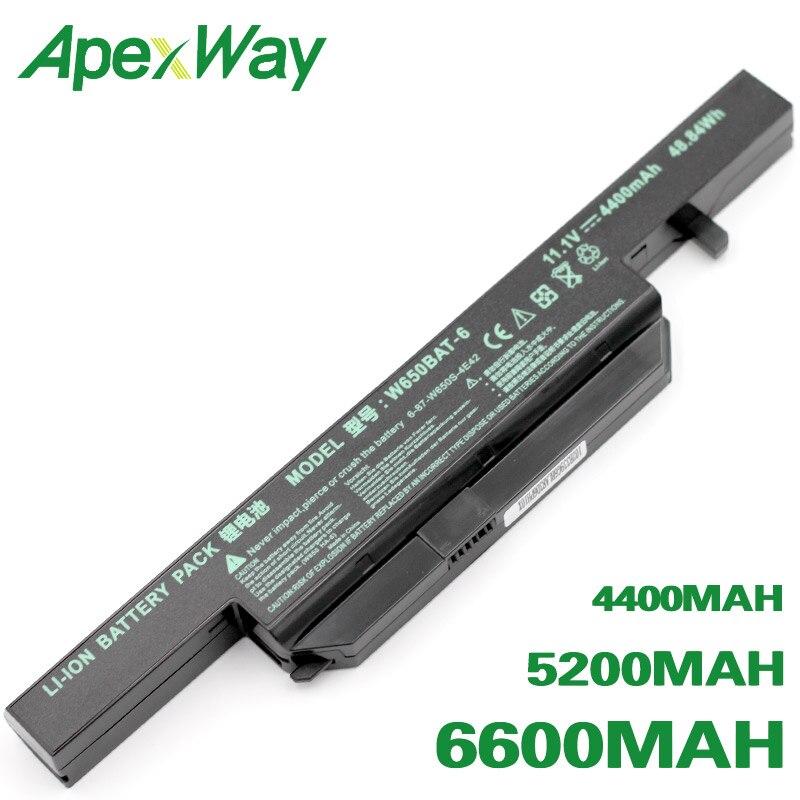 ApexWay W650BAT-6  Battery For Clevo 6-87-W650-4E42 K590C-I3 K610C-I5 K570N-I3 K710C-I7 G150S K650D K750D K4 K5 P4