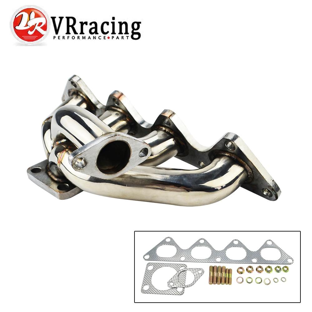 VR RACING -Turbo Manifold For Mitsubishi EVO 4G93 Stainless stee201 VR3509 vr racing cast aluminium intake manifold for 93 98 supra 2jzgte for toyota 2jz intake manifold high quality new brand vr im33sl