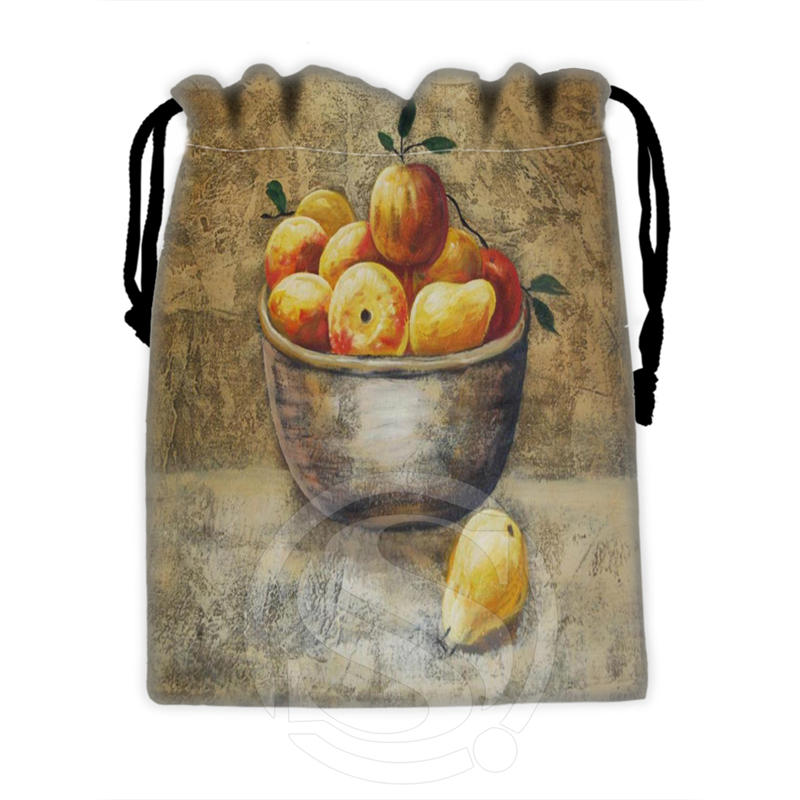 New Famous Western Oil Painting #21 Custom Logo Printed  Receive Bag  Bag Compression Type Drawstring Bags Size 18X22cm T902#X21