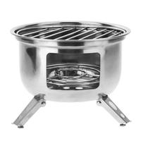 NEW Outdoor Portable Stainless Steel Camping Stove Lightweight Wood Stove Firewoods Furnace BBQ Picnic Solidified Alcohol Stove