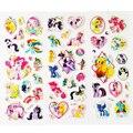60 Folhas/lote Pequeno Dos Desenhos Animados do Unicórnio Cavalo Etiqueta Inchado 3D Animais Adesivos Crianças Clássicos Brinquedos para As Crianças