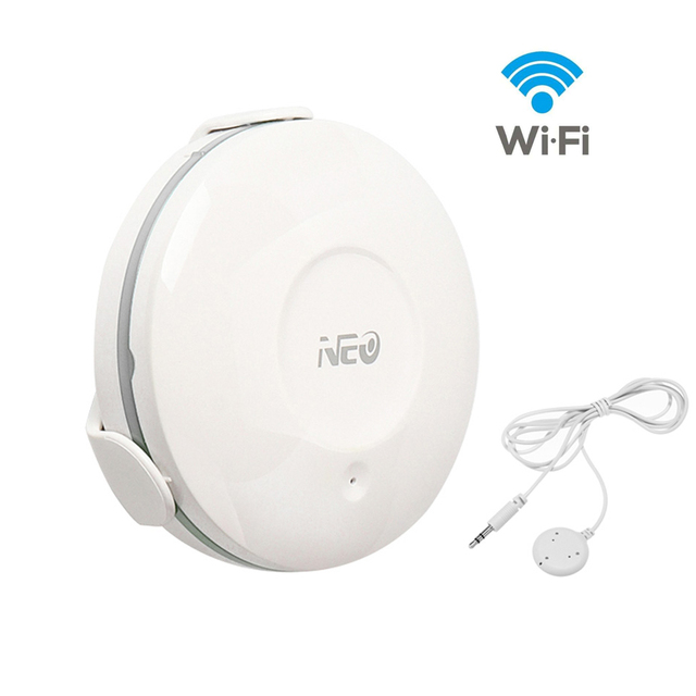 NEO Smart WiFi Water Flood Sensor Water Leakage Detector App Notification Alerts for Home Smart Living
