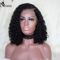 Nemer Brazilian 360 Lace Frontal Human Hair Wigs with Baby Hair 150%/180%/250% Density 360 Lace Wigs Natural Hairline Remy Hair