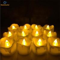 12 Pcs Decorative LED Candle Flickering Flameless LED Tea Light Flicker Tea Candle Light Party Wedding