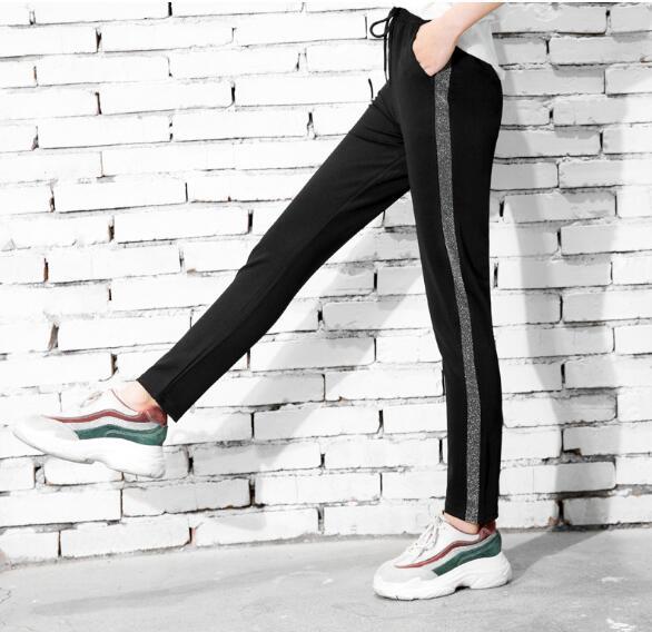 black casual pants women harem striped pants for women. Black Bedroom Furniture Sets. Home Design Ideas