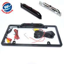 High Quality 170 Angle HD 8 IR Night Vision Car Rear View Backup Camera  For US License Plate Frame Car Camera