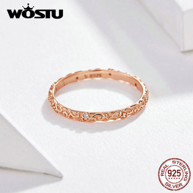 bfa574e05a3b € 4.5 30% de DESCUENTO|Anillo minimalista de oro rosa de lana 925 Plata de  Ley estilo coreano anillos delicados dedo para mujer joyería de moda de ...