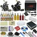 OPHIR 355 unids/set Pro de Alimentación Del Tatuaje Kits de Arte Corporal 2 Rotary Tattoo Machine Guns 12 Tintas de Color Del Pigmento # TA073
