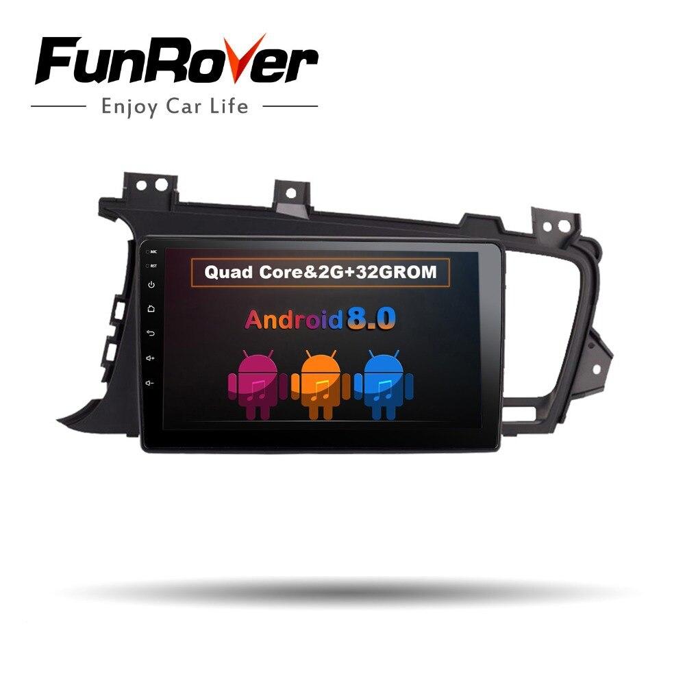 Funrover 9 Android 8.0 2 din Car DVD Player for Kia K5 Kia Optima 2011-2015 gps radio RDS stereo multimedia usb wifi video navi funrover ips 8 2 din android 8 0 car dvd player for kia sportage 2016 2017 kx5 gps navigation car stereo headunit wifi bt navi