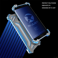 R JUST Gundam Metal Case Aluminum Shockproof Bumper Armor Phone Cases For Samsung Galaxy Note FE