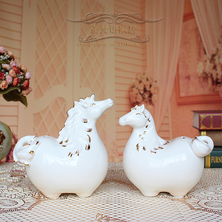 Abstract cute gift ideas for horse piggy bank ceramic crafts home decorations ornaments fashion