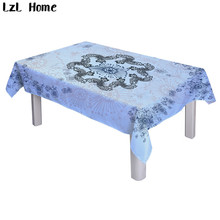 LzL Home Hot Scenic Snowflake Tablecloths Rectangle Modern Coffee Table  Cloth Waterproof Polyester Christmas Decoration For
